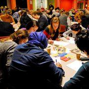 Een overzicht van de zaal te Kampen in 2014