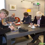 Van links af: Jeroen van Heemskerck Düker, Pieter van Diepen, Olaf van Kessel en Bert Jansen. Foto © Ruud Acker.